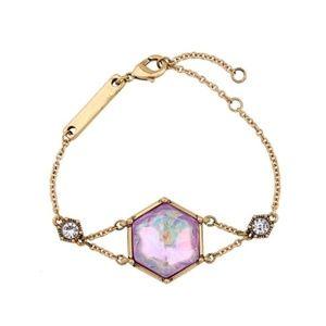 Multicolor Iridescent CZ Crystal Chain Bracelet